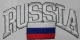 Russia Embroidered Flag Patch, style 03.